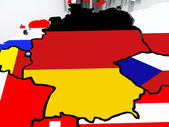 Map of Germany. — Stock Photo