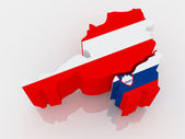 Map of Austria and Slovenia. — Stock Photo
