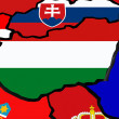 Map of Hungary. — Stock Photo