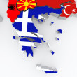 Map of Greece. — Stock Photo