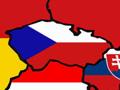Map of Czech Republic. — Stock Photo