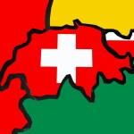 mappa della Svizzera — Foto Stock