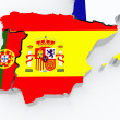 Map of Spain and Portugal. — Stock Photo
