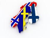 Map of Scandinavia. — Stock Photo