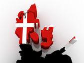 Map of Denmark. — Stock Photo