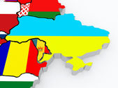 Map of Ukraine and Moldova. — Stock Photo