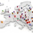 Three-dimensional map of Europe. — Stock Photo #27886493