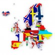 Three-dimensional map of Europe. — Stock Photo #27886495