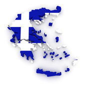 Three-dimensional map of Greece. — Stock Photo