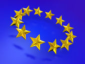 Sternen der europäischen union. — Stockfoto