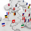 Three-dimensional map of Europe. — Stock Photo #28122855