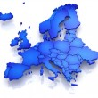 Stock Photo: Three-dimensional map of Europe.