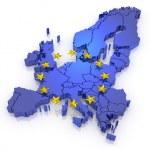 Трехмерная карта Европы — Стоковое фото