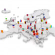 Three-dimensional map of Europe. — Stock Photo