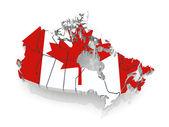 カナダの 3次元地図. — ストック写真