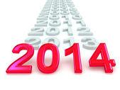 šťastný nový rok 2014. — Stock fotografie