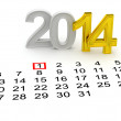 Happy New Year 2014 — 图库照片
