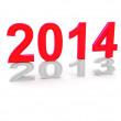 Happy New Year 2014 — Stockfoto