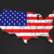 Three-dimensional map of USA — Stock Photo #31895275