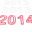 Happy New Year 2014 — Lizenzfreies Foto