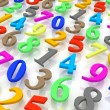 Background of numbers. — Stockfoto