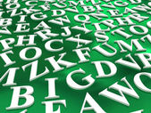 Letters of the English alphabet — Stock Photo