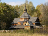 Holzkirche. pyrohiv. kiew. — Stockfoto
