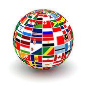 Banderas de planeta — Foto de Stock