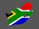 Map of Republic of South Africa (RSA) — Stock Photo