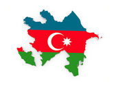 Map of Azerbaijan — Stock Photo