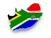 Map of Republic of South Africa (RSA). — Stock Photo