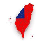 Карта Тайваня. — Стоковое фото