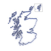 Map of Scotland — Stock Photo
