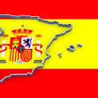 Three-dimensional map of Spain. — Stock Photo #43570979