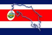 Map of Costa Rica. — Stock Photo