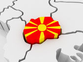 Map of Europe and Macedonia. — Stock Photo
