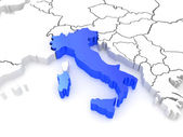 Map of Europe and Italy. — Stock Photo