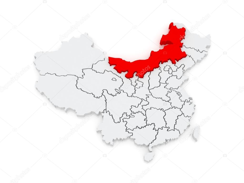 内蒙古地图.中国.3d