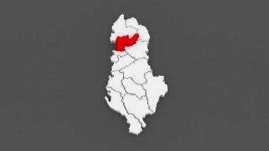 Map of regions Albania. — Stock Video