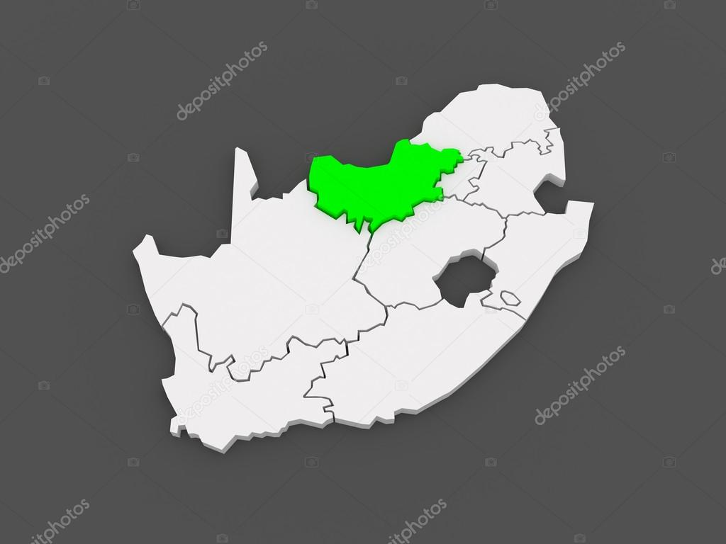 Mafikeng South Africa  City new picture : Map of North West Mafikeng . South Africa. — Stock Photo ...