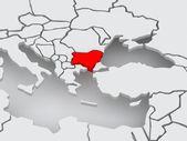 Map of worlds. Bulgaria. — Foto Stock