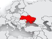 Mapa de los mundos. ucrania. — Foto de Stock