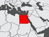 Map of worlds. Egypt. — ストック写真