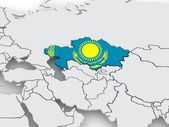 Map of worlds. Kazakhstan. — Stock Photo