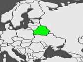 Map of worlds. Belarus. — Stock Photo