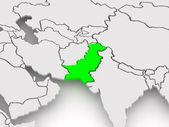 Map of worlds. Pakistan. — Stock Photo