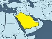 Map of worlds. Saudi Arabia. — Stock Photo
