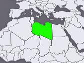 Map of worlds. Libya. — Zdjęcie stockowe