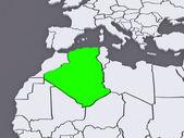 Map of worlds. Algeria. — Stock Photo