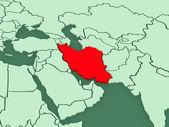 Map of worlds. Iran. — Zdjęcie stockowe
